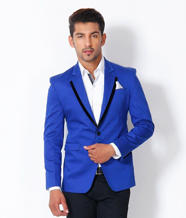 Images of Royal Blue Blazer Men - Reikian