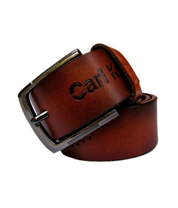 Winsome Deal Men's Brown Synthetic Leather Casual Belt - CSLB0010