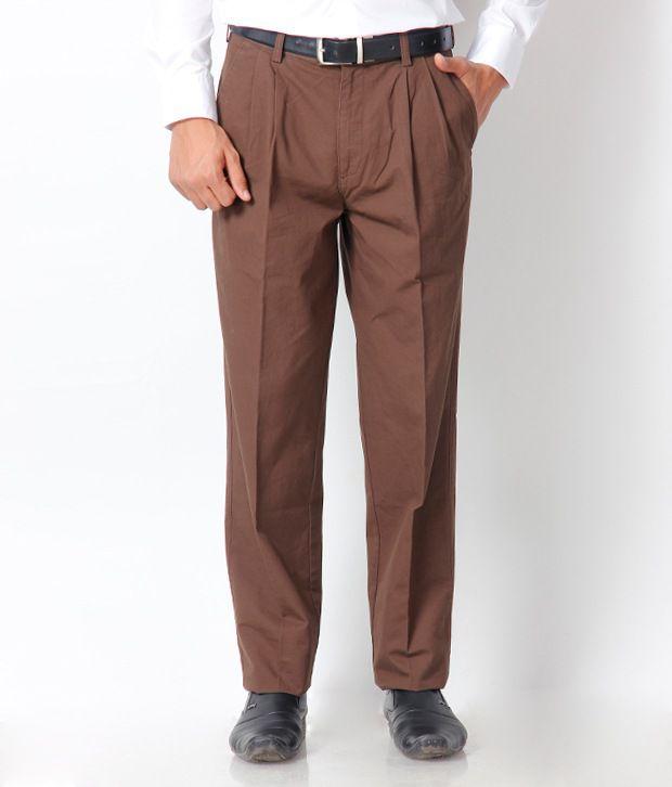 Indigo Nation Brown Formal Trouser
