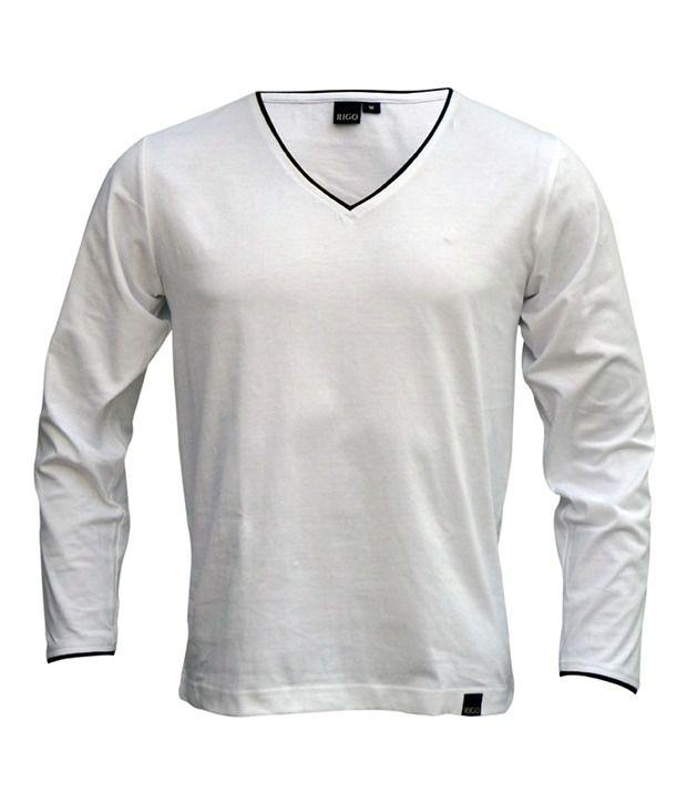 258c9ea29c Rigo Pack Of Grey-White V-Neck Full Sleeve T Shirts - Buy Rigo Pack ...
