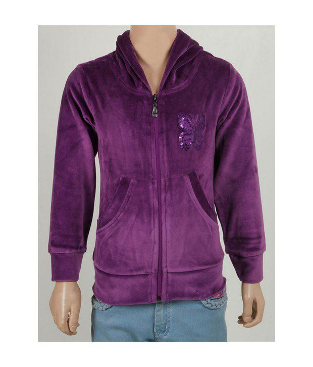 Purple Nasty Rani Sweatshirt For Kids