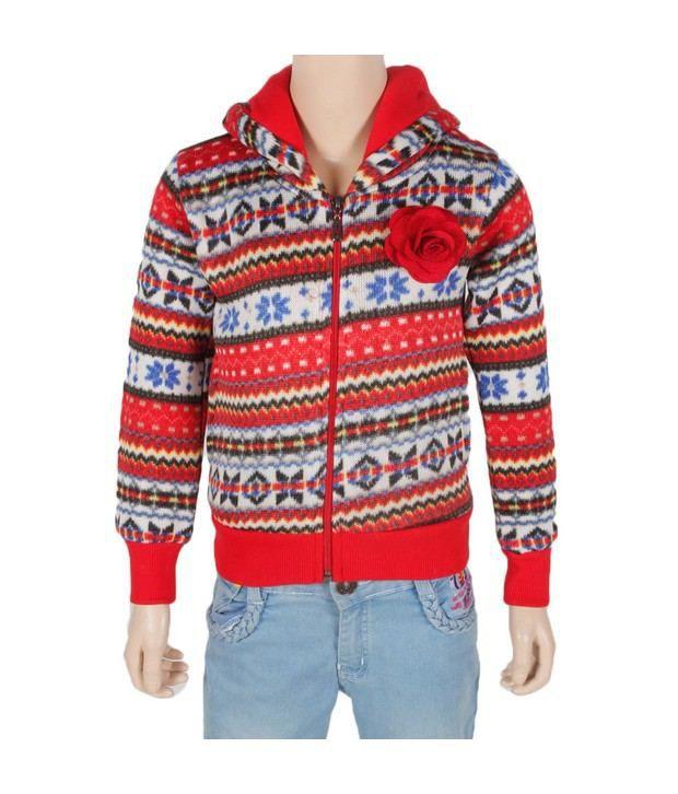 Vine Red Sweatshirt For Kids