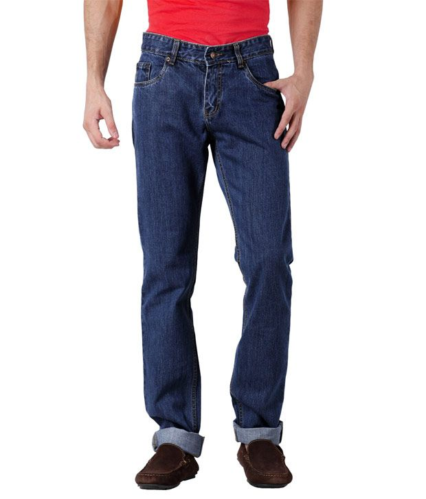 US Rugby Indigo Blue Stretch Regular Fit Men's Jeans 203
