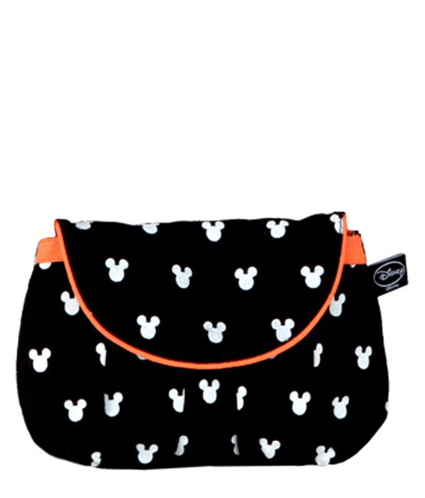 Be For Bag Mickey Face Cut Out Print  Black Clutch Bag