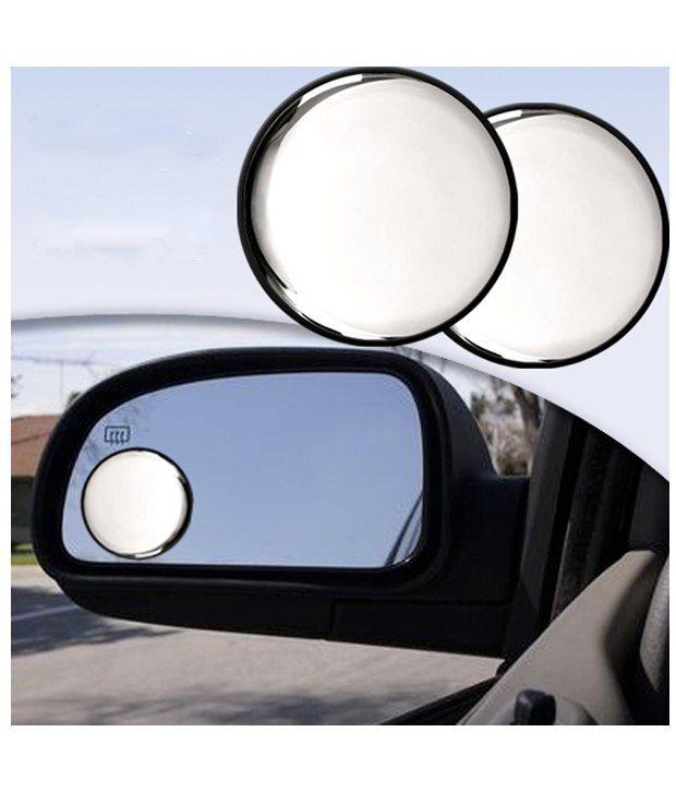 Vheelocityin Car Blind Spot Convex Side Rear View Mirror Black Corner