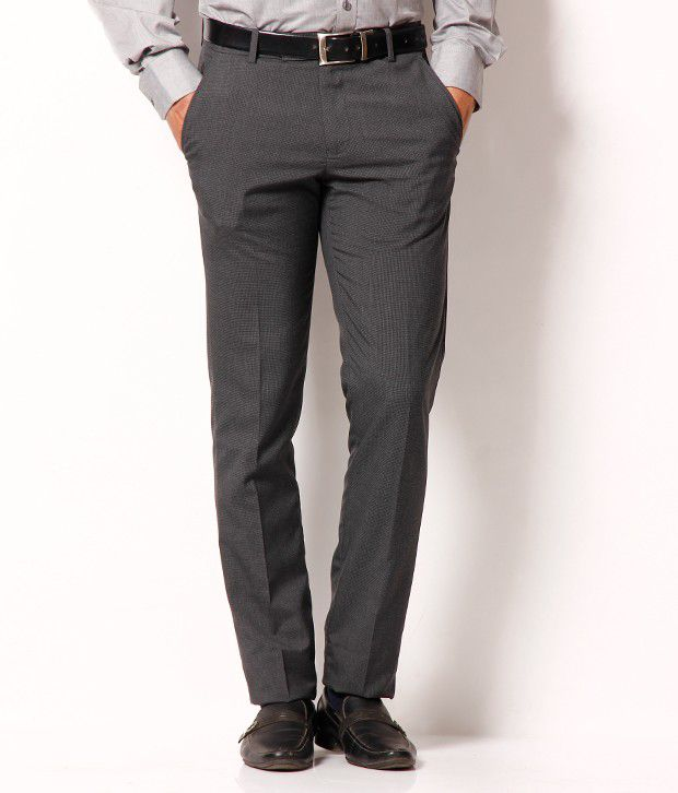 Black Coffee Dark Grey Formal Trouser