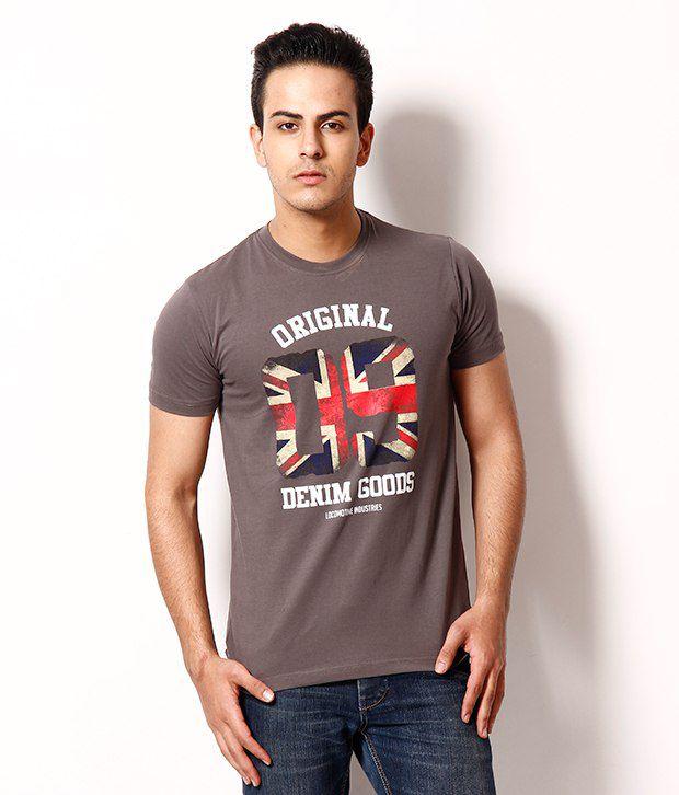 Locomotive Smart Brown T Shirt