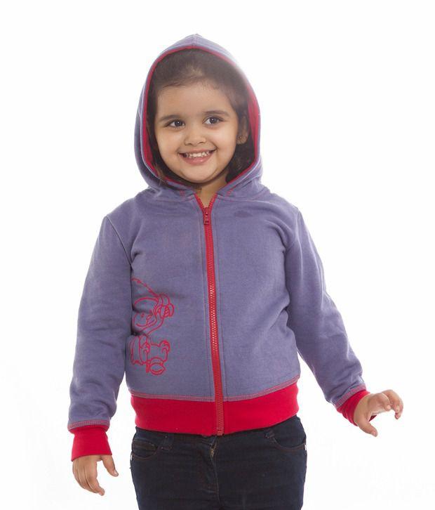 Nino Bambino Blue Zipper Sweatshirt For Kids