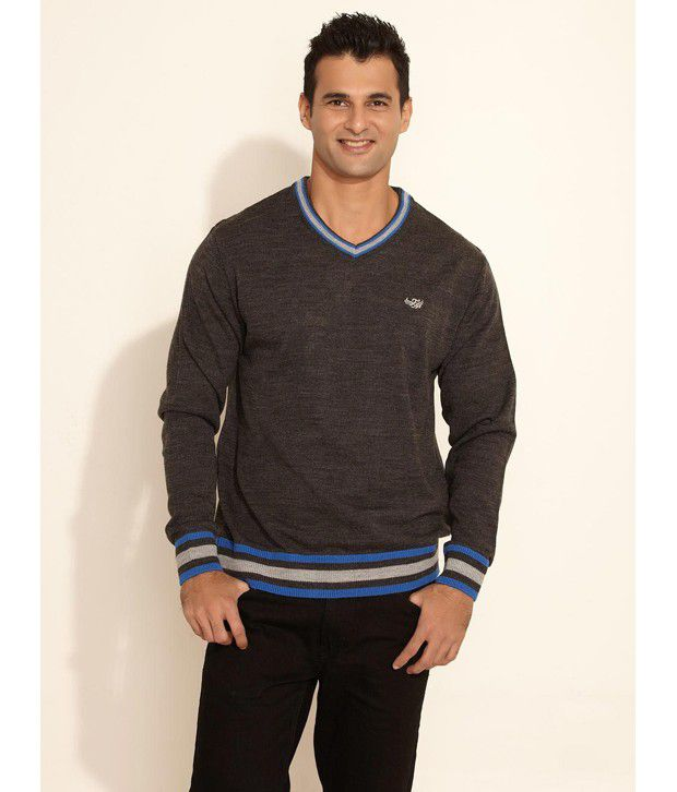 5498652ab3d46 Flying Machine Grey Sweater For Men - Buy Flying Machine Grey Sweater For Men  Online at Best Prices in India on Snapdeal