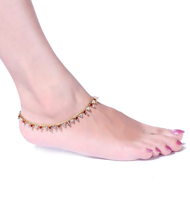 Antique Impressions Beautiful Stone Studded Anklets