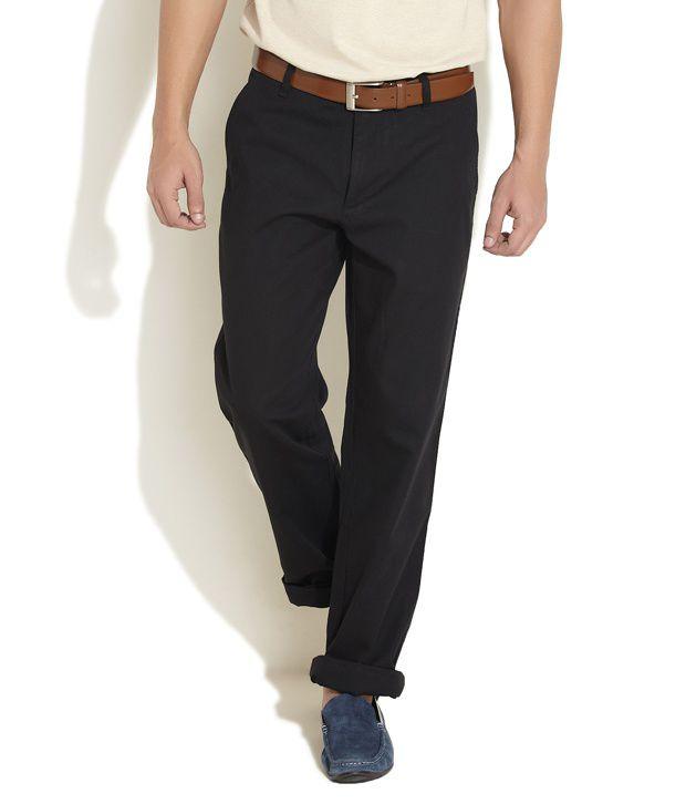 Ruggers Black Regular Fit Trouser