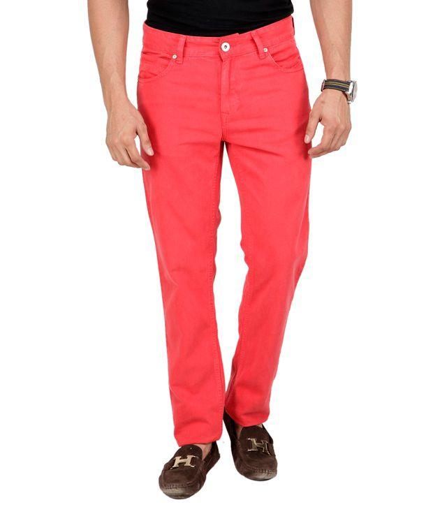 Navyfont Scarlet Red Basics Jeans