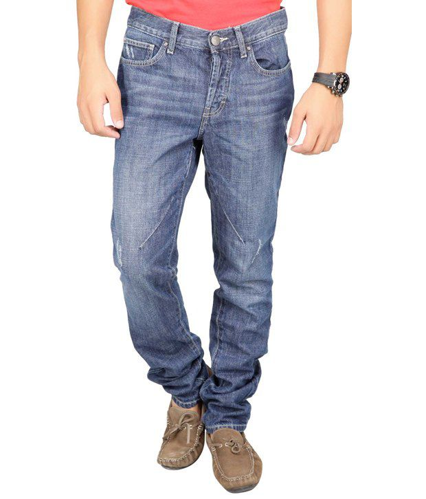 Web Jeans Classic Blue Faded Jeans