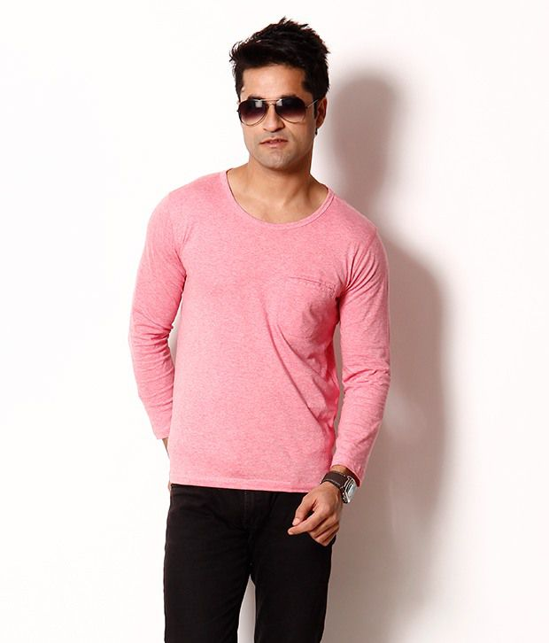 bea473d77 Franco Leone Pink Full Sleeves Basic T Shirt - Buy Franco Leone Pink Full  Sleeves Basic T Shirt Online at Low Price - Snapdeal.com
