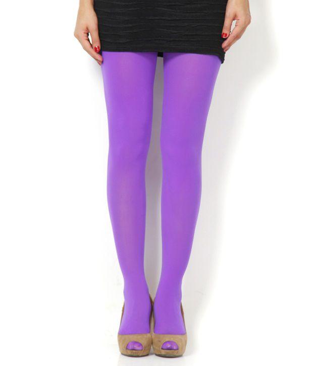 Etchs Purple Plain Panty Hose Stockings