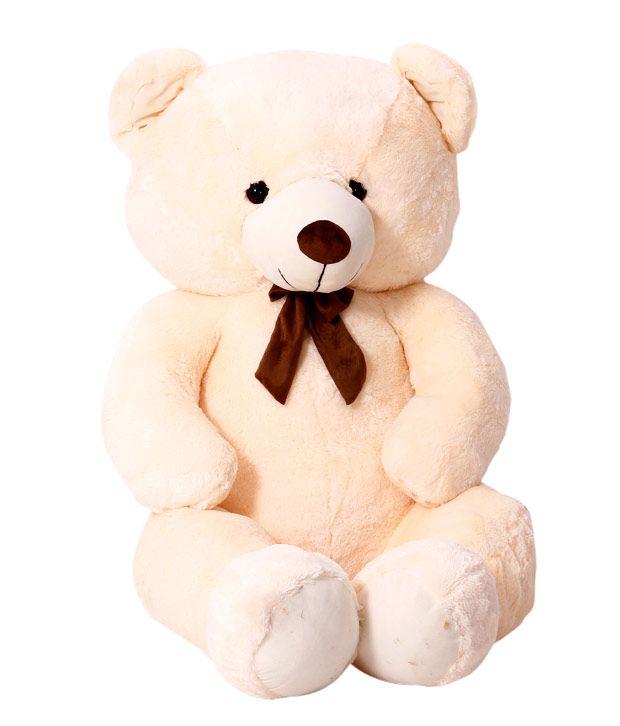 Dimpy Stuff Teddy Bear 5 Feet Cream