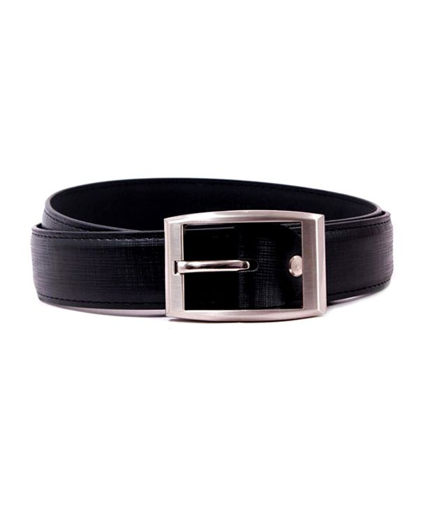 Pacific Gold Black Mens Formal Belt