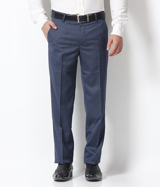 Gansta Blue Formal Trouser