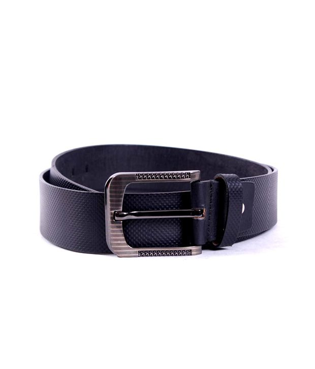 Pacific Gold Leather Belt- Black