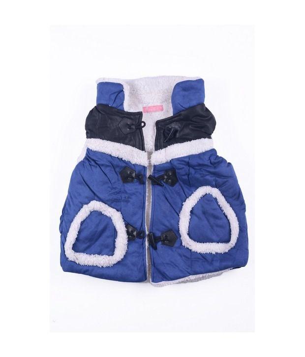 Isabelle Royal Blue Winter Wear Jacket For Kids