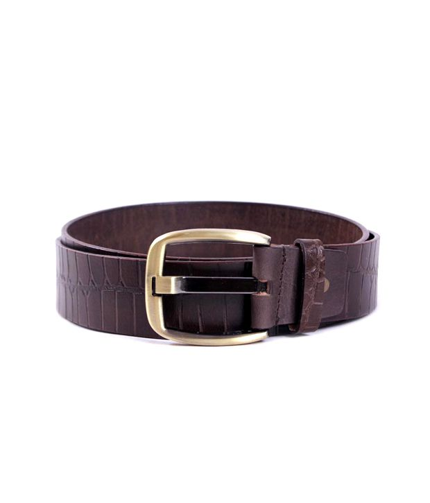 Pacific Gold Brown Casual Belt
