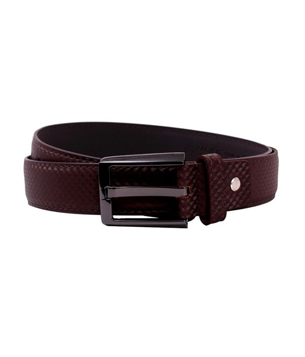Pacific Gold Formal Belt Brown