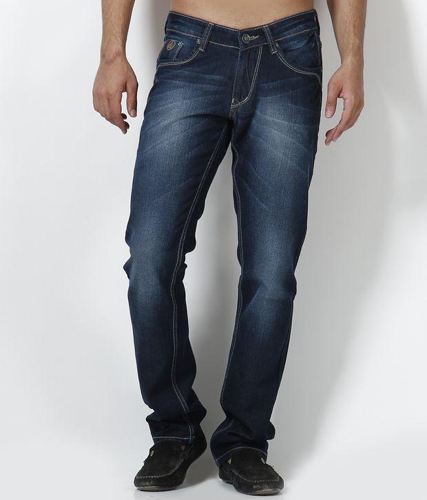 DFU Jeans Deep Blue Faded Jeans