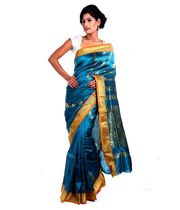 Vida Blue Superb Art Silk Saree