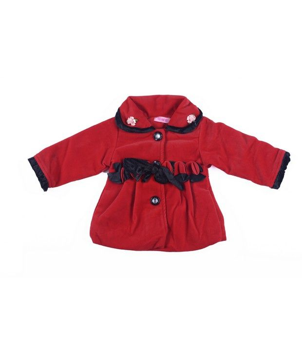 Isabelle Red Hooded Jackets For Kids