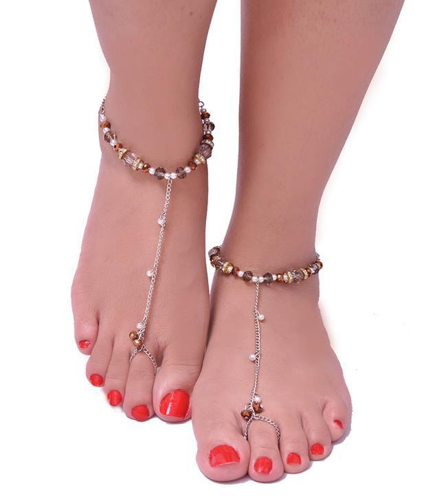 Trinketbag Brown Anklets