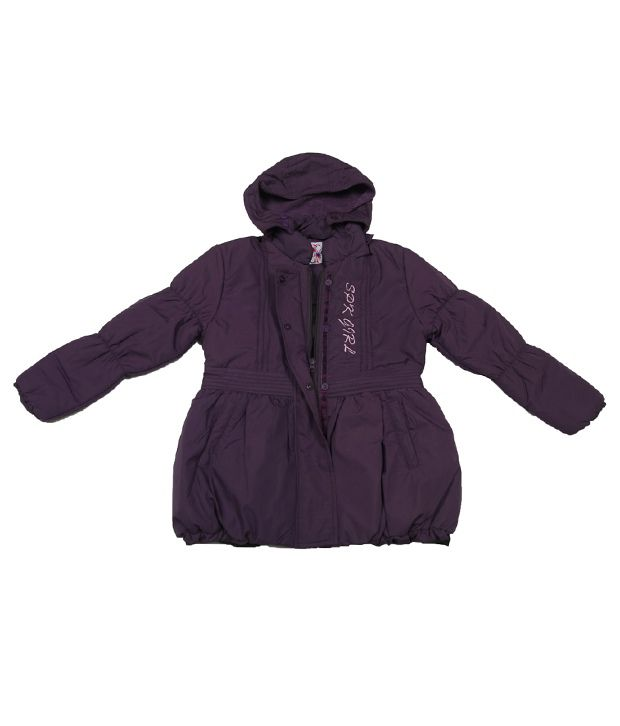 Sportking Purple Full Sleeve Hooded Jacket For Kids