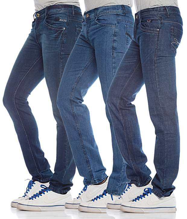 Photon Jeans Blue Pack of 3 Classic Jeans