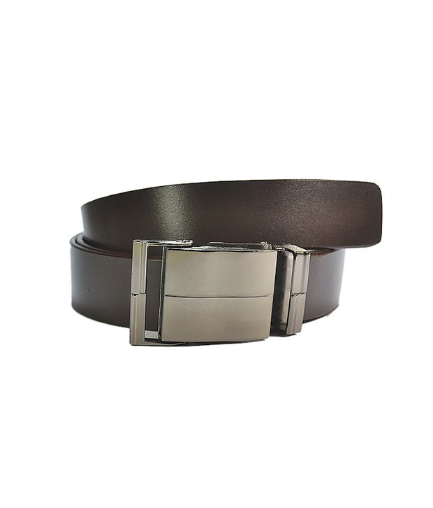 Royal Son Smooth Brown Leather Belt