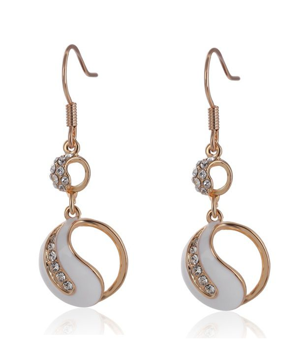 Everything Imported Micro diamond retro alloy earring - White