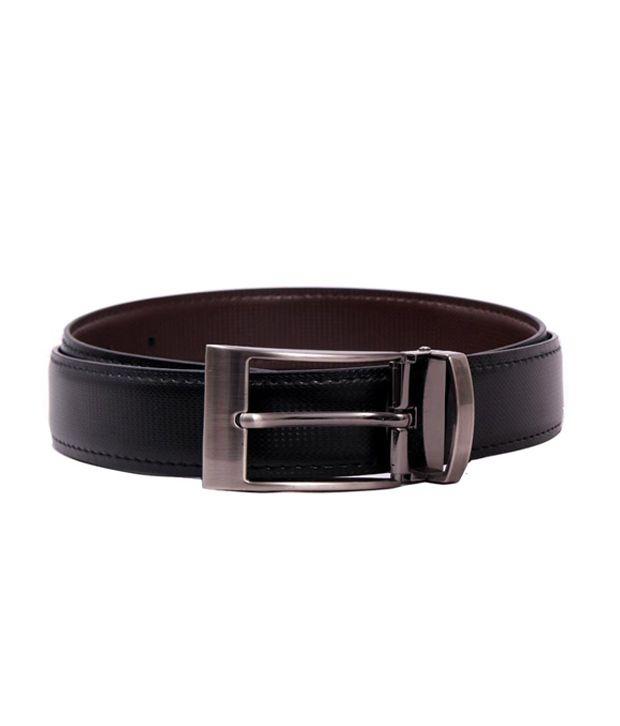 Pacific Gold Stylish Reversible Belt- Black