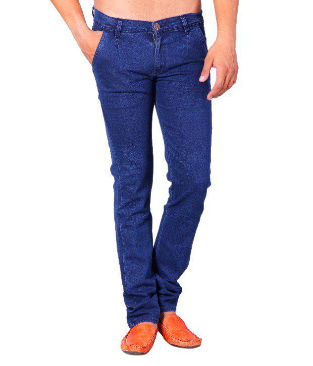 Concept n Fashion Smart Blue Cotton Lycra Jeans