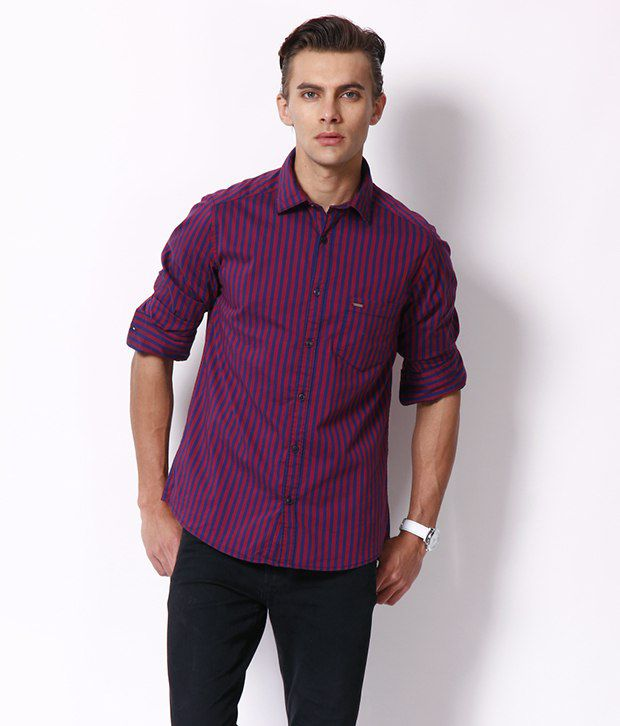 Dark Pink Shirt | Is Shirt