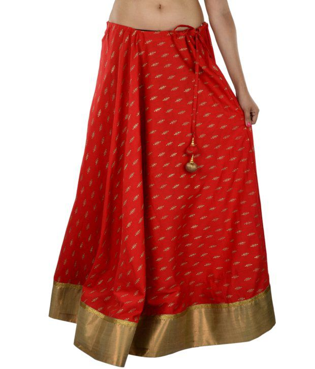 Buy 9Rasa Red Cotton Skirts Online at Best Prices in India - Snapdeal