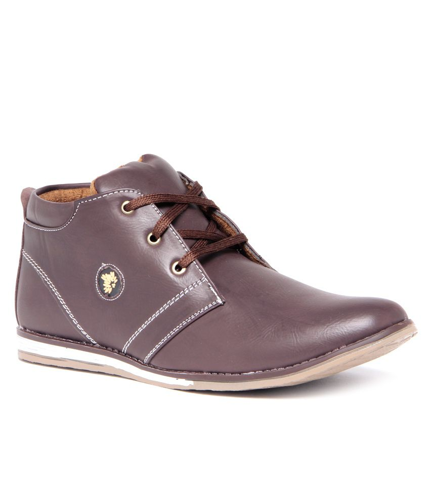 Foot Clone Smart Brown Ankle Length Casual Shoes