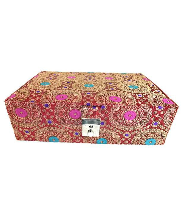 Golden Collections Redish Jewellery Box