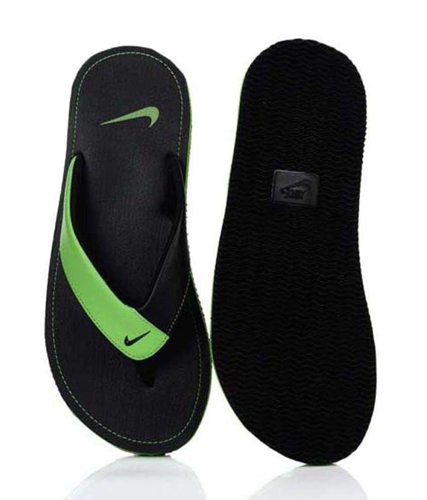 best service 2d732 e94b4 Nike Chroma Thong II Green & Black Mens Flip Flops Price in ...
