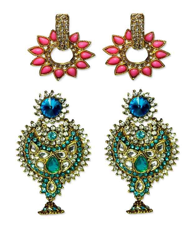 V Fashion Jewelry Exclusive Designer Earrings Combo