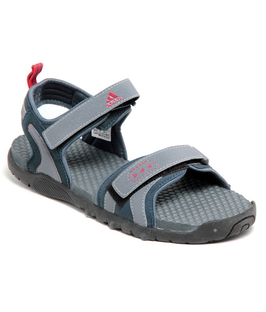 70c5a5459c1 Adidas Edgy Grey   Red Floater Sandals - Buy Adidas Edgy Grey   Red Floater  Sandals