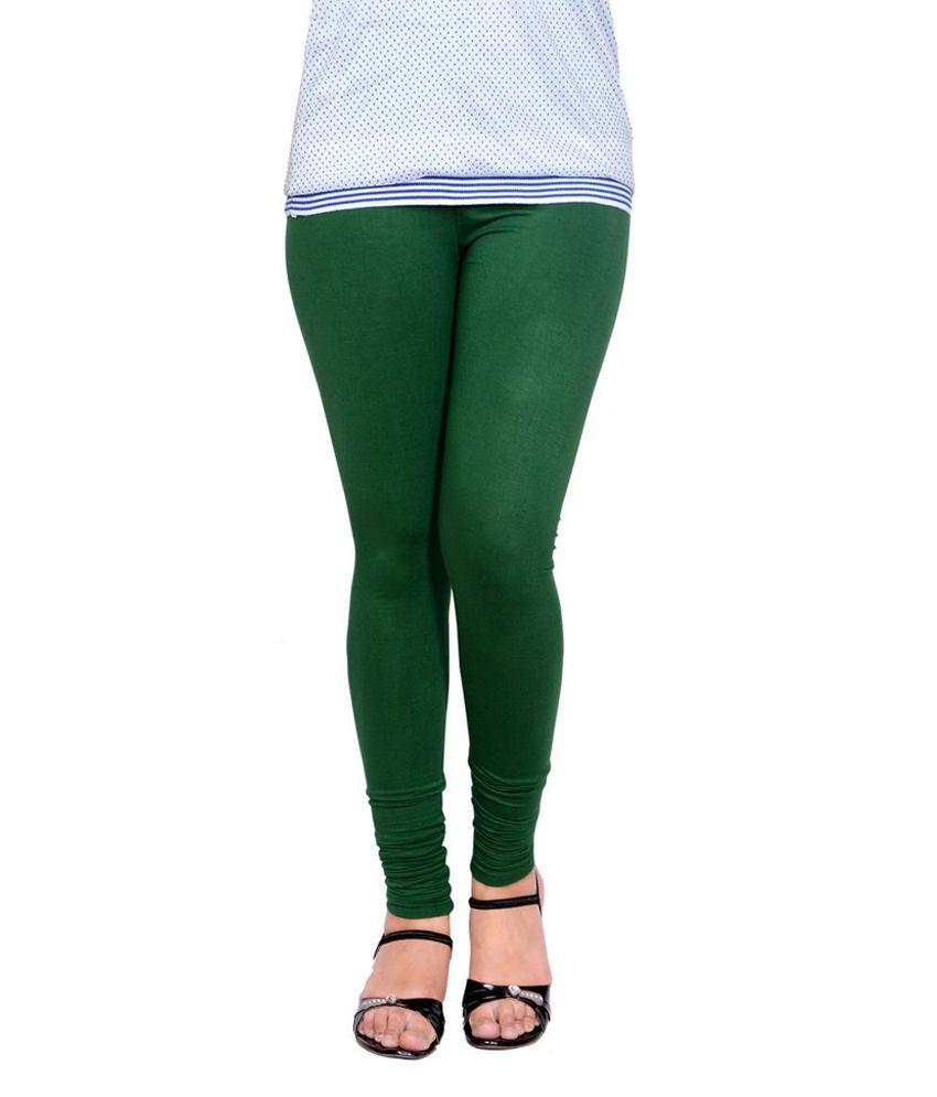 571f9e62b0239 LGC Dark Green Viscose Lycra Leggings Price in India - Buy LGC Dark Green  Viscose Lycra Leggings Online at Snapdeal
