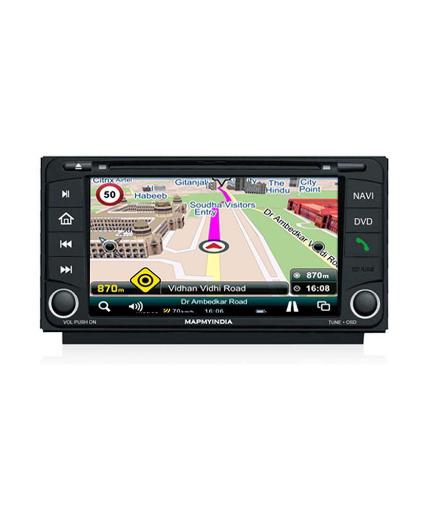 Mapmyindia in dash car navigation system toyota fortuner