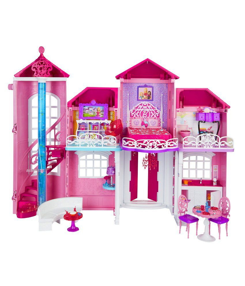 Barbie malibu house doll houses buy barbie malibu house for La casa di malibu