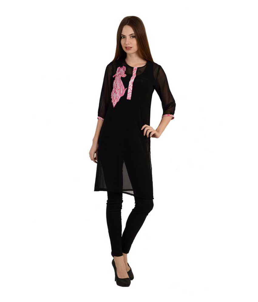 Black Pink Kurti