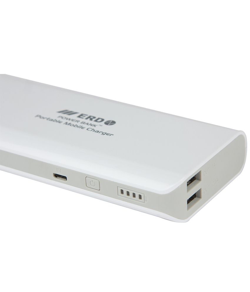 Erd Power Bank 11000mah White Banks Online At Low Prices Bestseller Xiaomi New Slim Powerbank 10000mah Original Silver