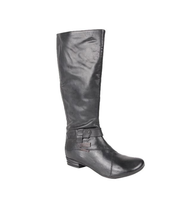 Euro Star Prominent Black Knee Length Boots