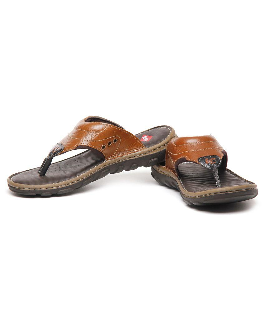 5416d74b4005 Lee Cooper Tan Thong Slippers Art LC8455BRN Price in India- Buy Lee ...